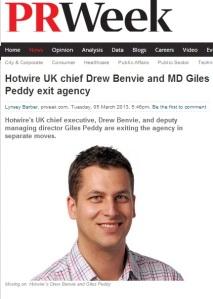 Drew Benvie PR Week