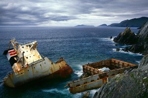 Shipwreck, Ireland (John O'Sullivan on Flickr, Creative Commons)