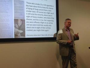 Presenting the paper at Bournemouth. Photo: Heather Yaxley